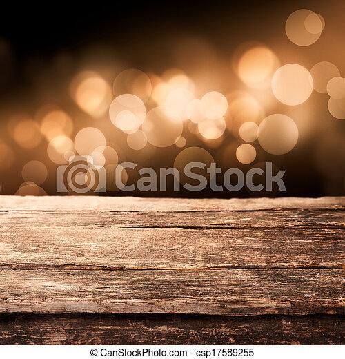 木製である, ライト, 板, 光っていること, パーティー - csp17589255