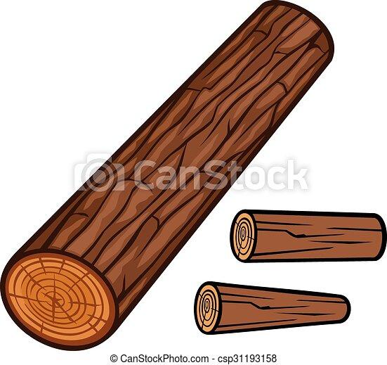 木製である, 丸太 - csp31193158