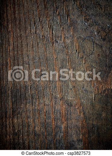 木製である, 傷付けられる, 古い, 手ざわり, バックグラウンド。 - csp3827573