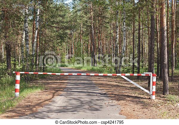 木製である, 木, 方法, 障壁, ブロックする - csp4241795