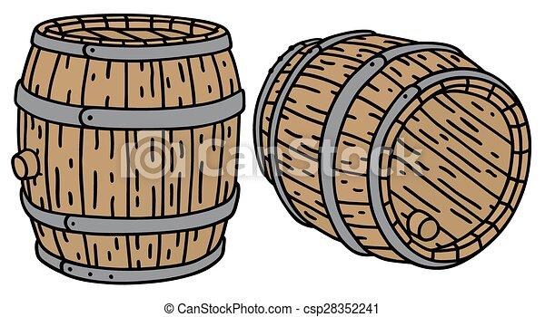 木製である, 樽, 古い - csp28352241
