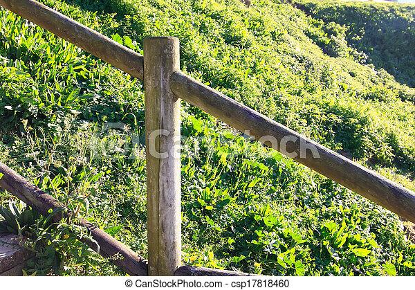木製である, 田舎, フェンス - csp17818460