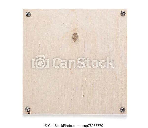 木製である, 白, ネームプレート, 印, 壁, ∥あるいは∥, 隔離された - csp78288770