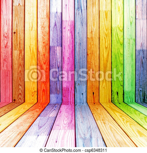 木製である, 部屋, カラフルである - csp6348311
