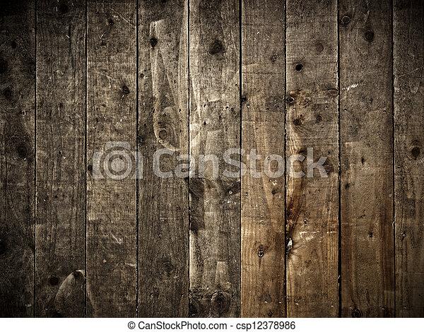 木製の壁, 背景 - csp12378986