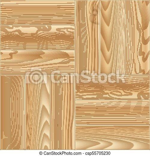 木製の 床, pattern., seamless, イラスト, ベクトル, 寄せ木張りの床 - csp55705230