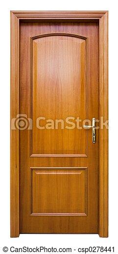 木頭, 門 - csp0278441