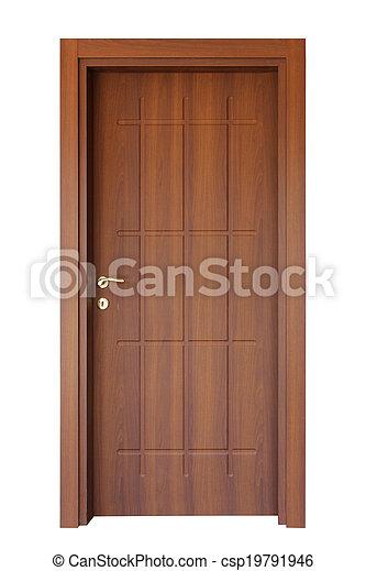 木頭, 門 - csp19791946