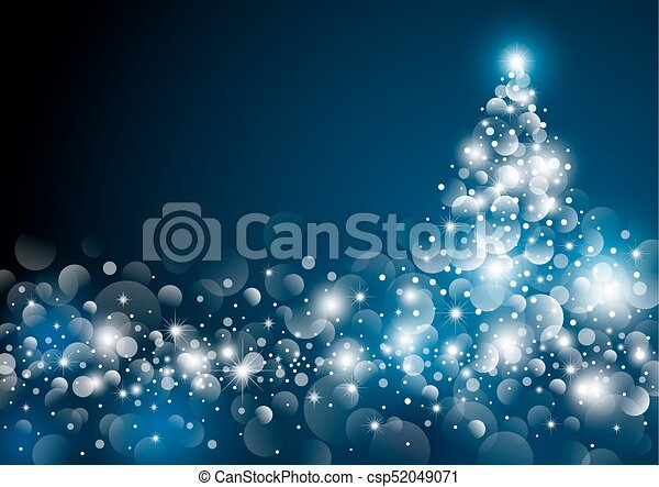木, イラスト, ベクトル, デザイン, 夜, クリスマス - csp52049071
