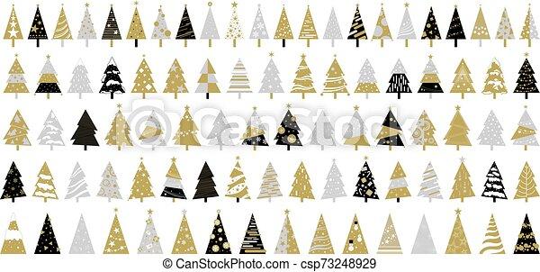 木, イラスト, ベクトル, 背景, 白い クリスマス - csp73248929