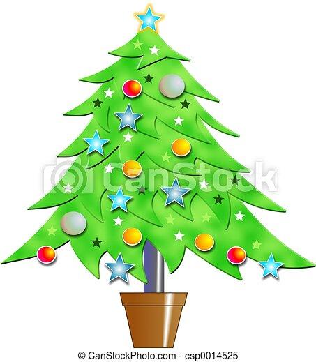 木, クリスマス - csp0014525