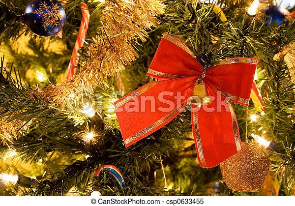 木, クリスマス, リボン - csp0633455