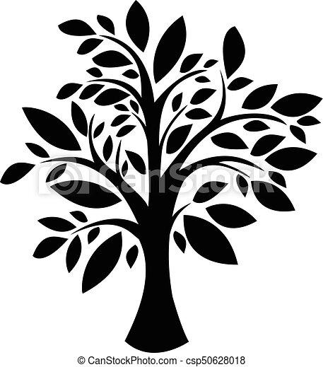 木, シルエット - csp50628018