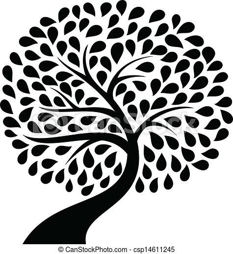 木, シルエット - csp14611245