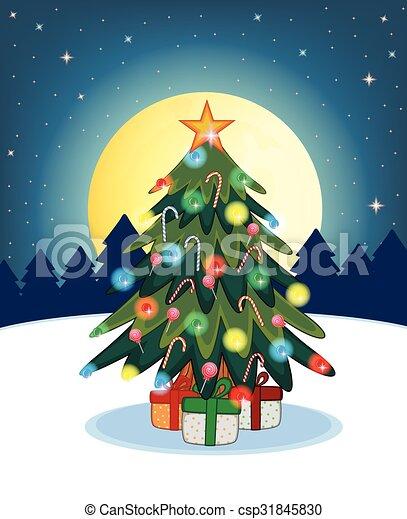木, デザイン, クリスマス, あなたの - csp31845830