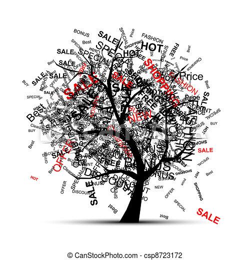 木, デザイン, 概念, 買い物, あなたの - csp8723172