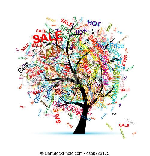 木, デザイン, 概念, 買い物, あなたの - csp8723175
