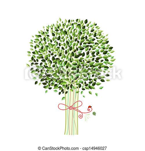 木, デザイン, 隔離された, あなたの - csp14946027
