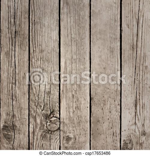 木, ベクトル, 板, 手ざわり, 床 - csp17653486