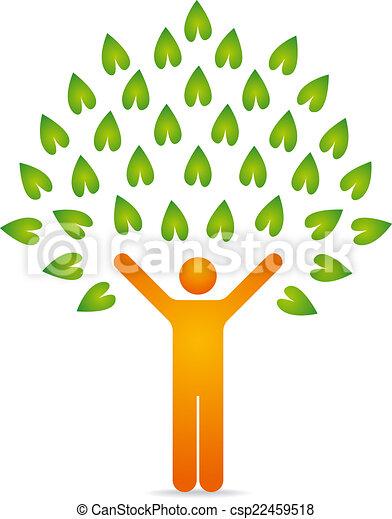 木, 人間 - csp22459518