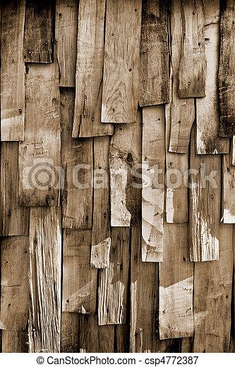 木, 古い, 背景 - csp4772387