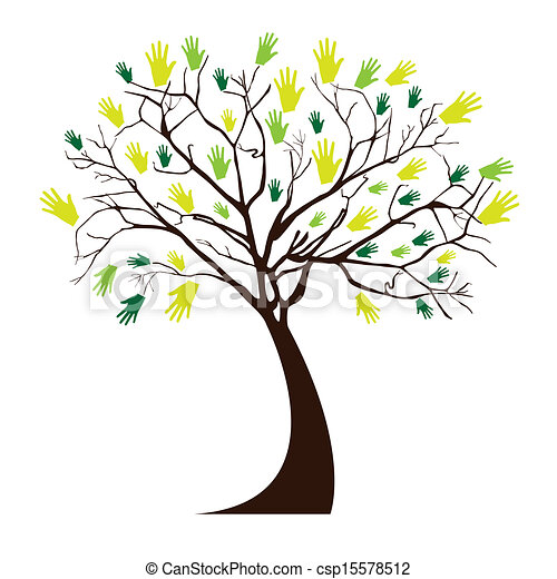 木, 手 - csp15578512