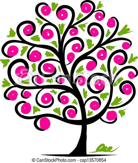 木, 抽象的なデザイン, あなたの - csp13570854