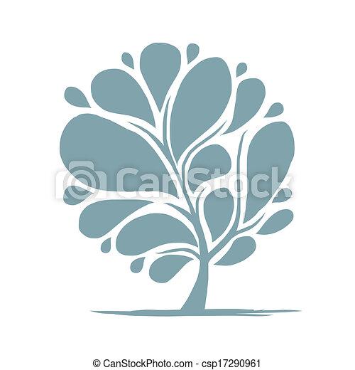 木, 抽象的なデザイン, あなたの - csp17290961