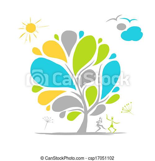 木, 抽象的なデザイン, あなたの - csp17051102