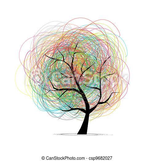 木, 抽象的なデザイン, あなたの - csp9682027