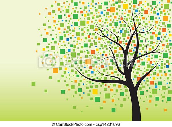 木, 抽象的 - csp14231896