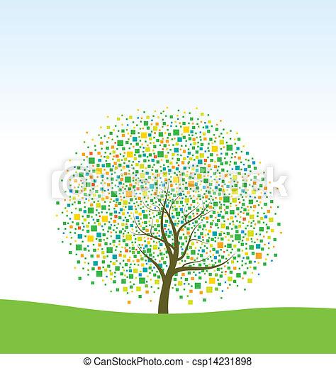 木, 抽象的 - csp14231898
