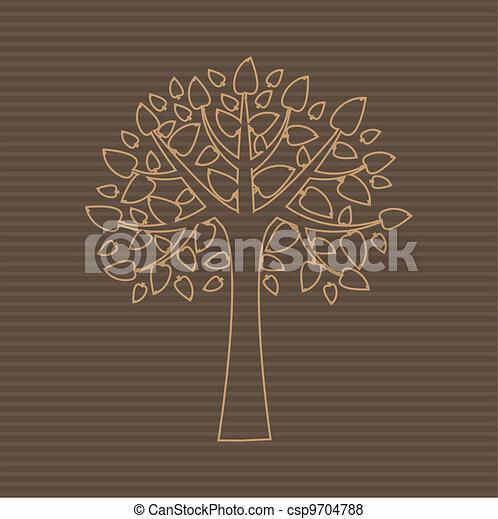 木, 抽象的 - csp9704788