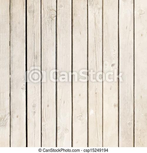 木, 白, ベクトル, 板, 背景 - csp15249194