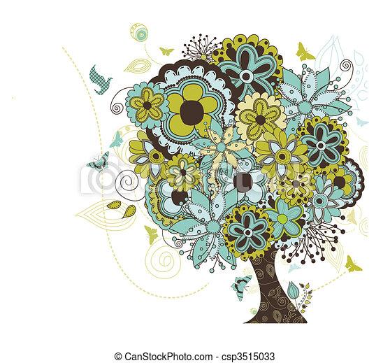 木, 破烈, 花 - csp3515033
