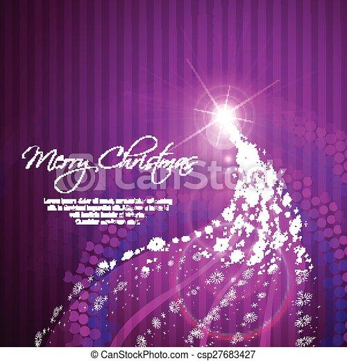木, 芸術的, クリスマス - csp27683427