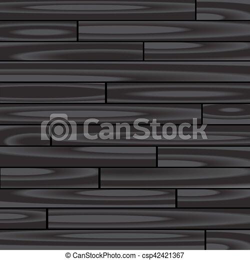 木, 黒い背景, 寄せ木張りの床 - csp42421367