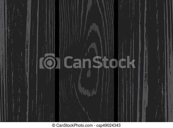 木, 黒, 板, 背景 - csp49024343