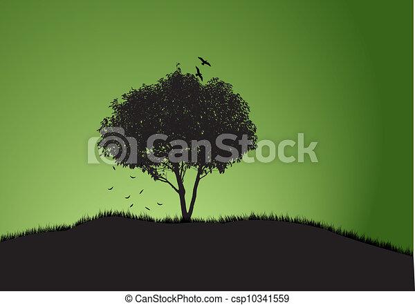 木, 1(人・つ) - csp10341559