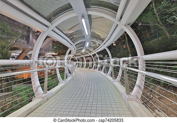 未来派, sidewalk., architecture., トンネル, 引っ越し - csp74205833