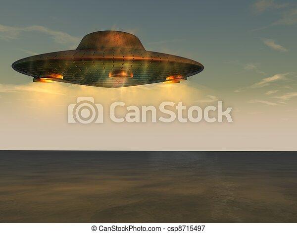 未確認, 飛行, -, オブジェクト, ufo - csp8715497