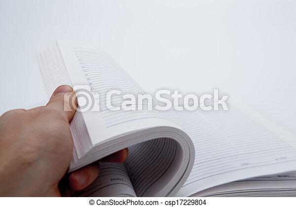 本, ページ - csp17229804