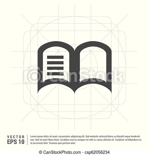 本, 開いた, アイコン - csp62056234