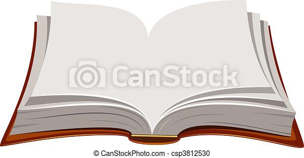 本, 開いた - csp3812530