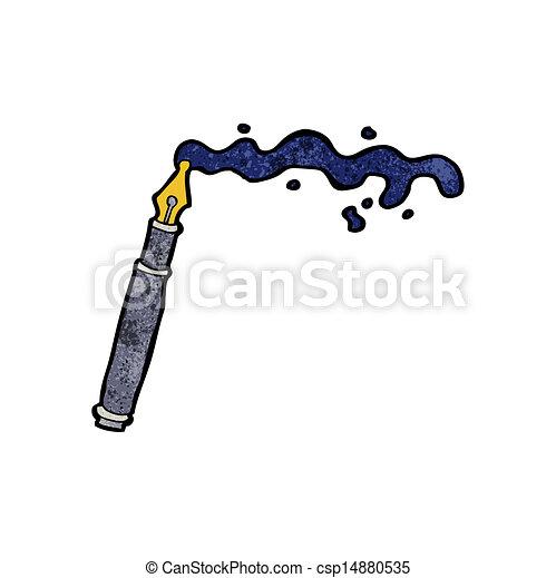 杂乱, 钢笔, 泉水, 卡通漫画图片