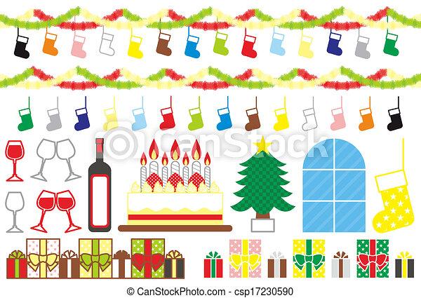 材料, クリスマス - csp17230590