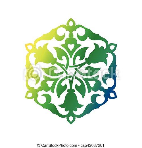 東洋人, アラビア, 装飾 - csp43087201
