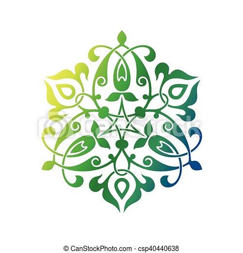 東洋人, アラビア, 装飾 - csp40440638