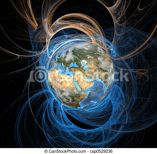 東, 地球, エネルギー, フィールド - csp0529236