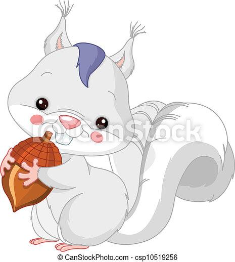 松鼠, zoo., 樂趣, 白色 - csp10519256